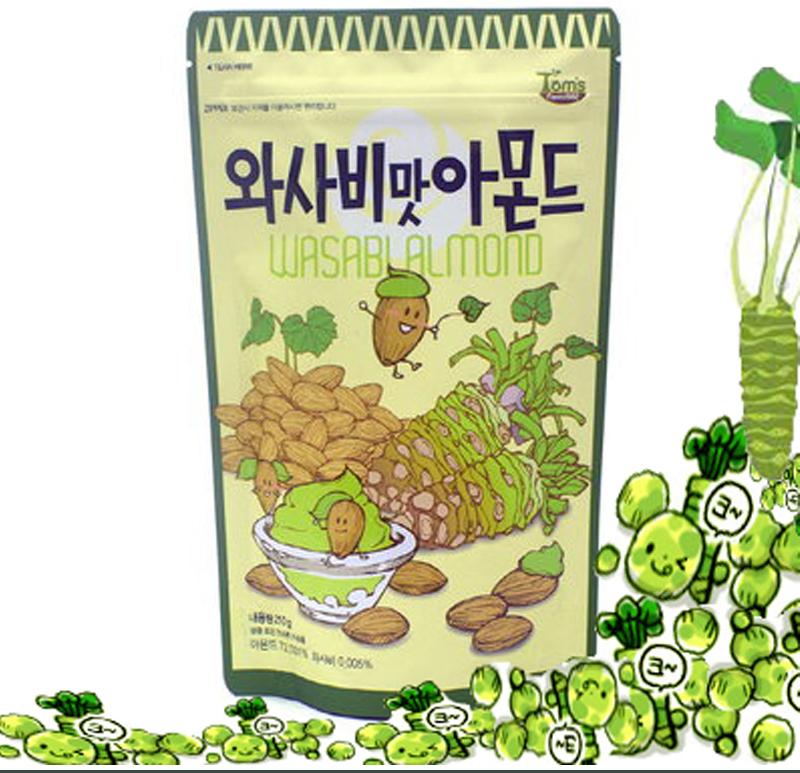 Buy Imported Korean Honey Butter Almond 250g Wasabi