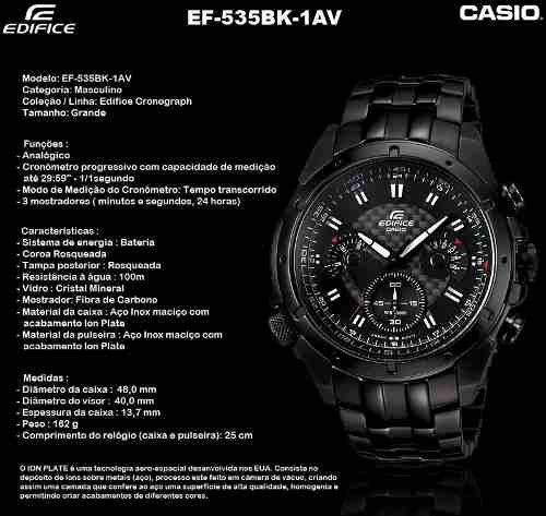 CASIO EDIFICE EF 535BK