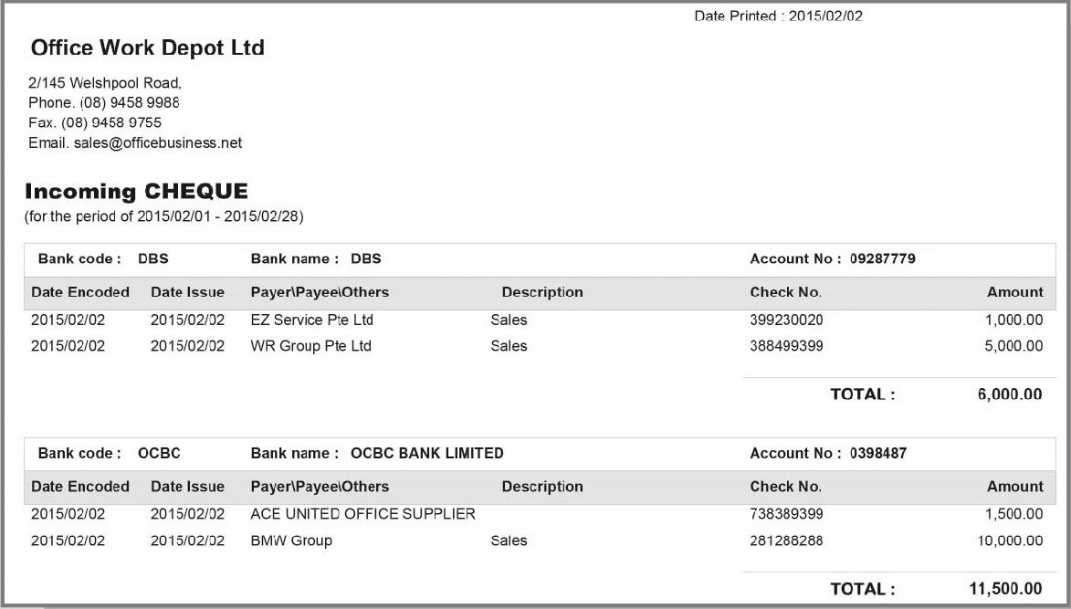 BIOSYSTEM Cheque Printing Software V4 8