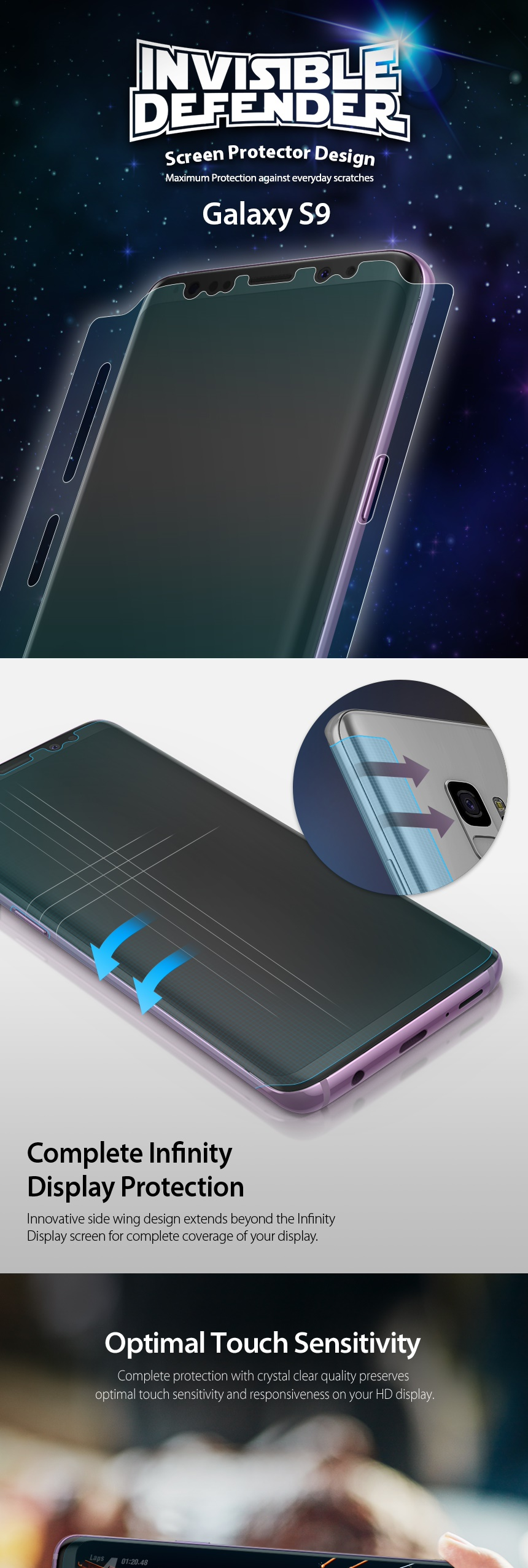 Every Need Want Day Rearth Ringke Galaxy S8 Invisible Defender Screen Protector Air
