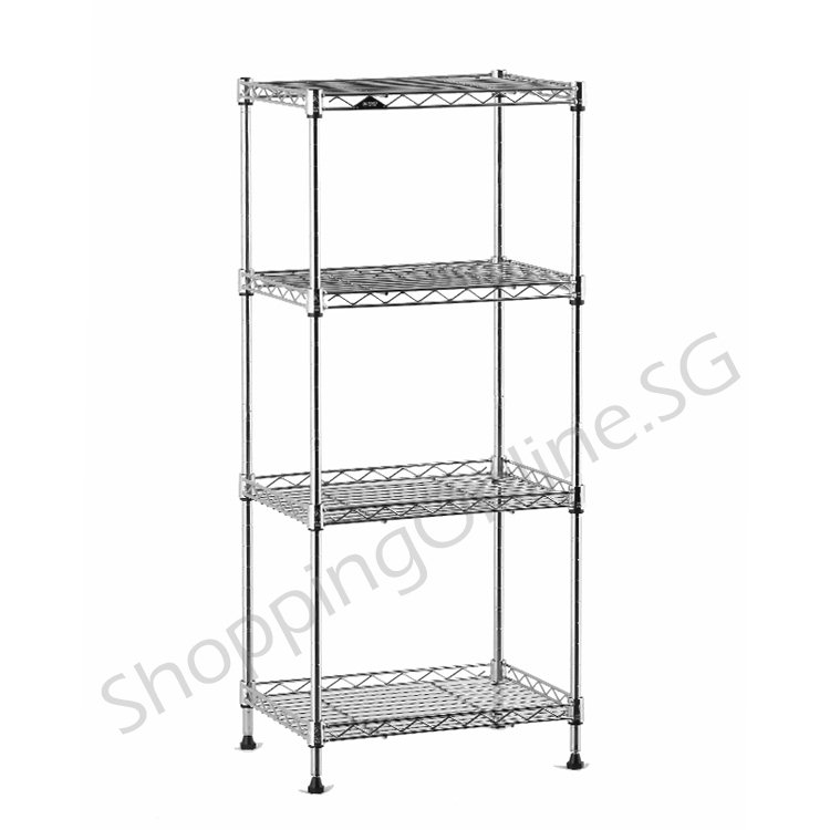 5 Tier Black Wire Steel Shelf Rack Shelving For Organized