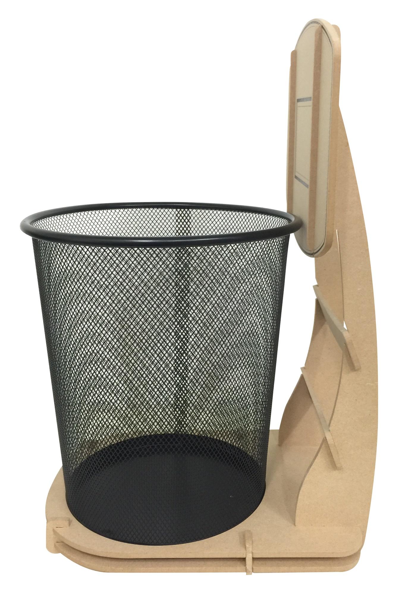 Basketball wastebaskets backboard paper bins cleaning household home decor gifts ebay - Basketball waste paper basket ...