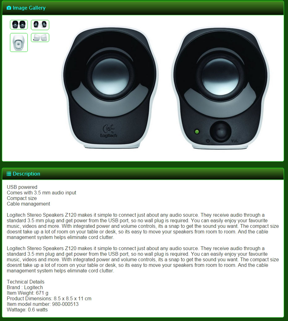 Qoo10 Global Fashion Trend Leading Shopping Logitech Stereo Speakers Z120 Usb Powered 980 000524 Computer Sound Audio