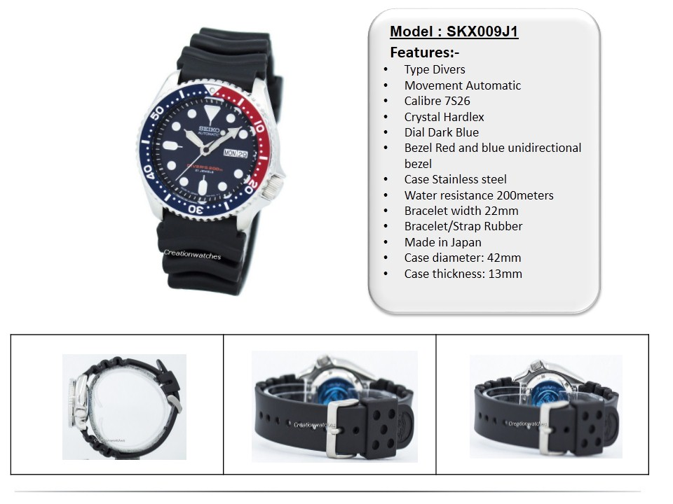 about band automatic itm watches us diver watch creation creationwatches ebay rubber seiko