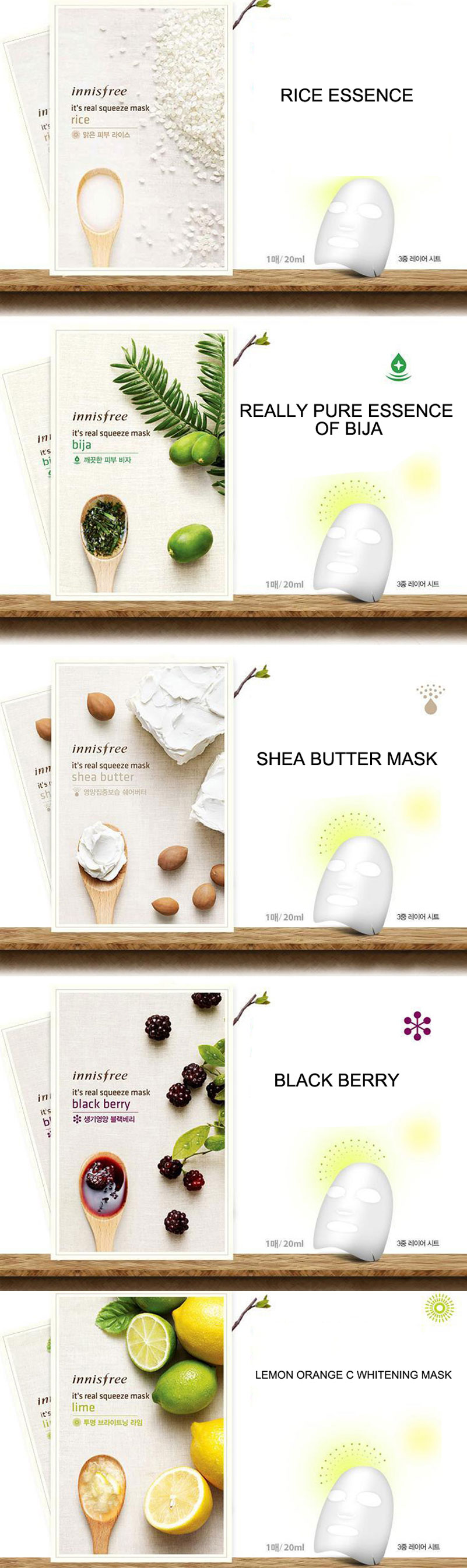 Buy Innisfree Mask Its A Real Squeeze The Face Shop Black Berry Eye And Lip Areas