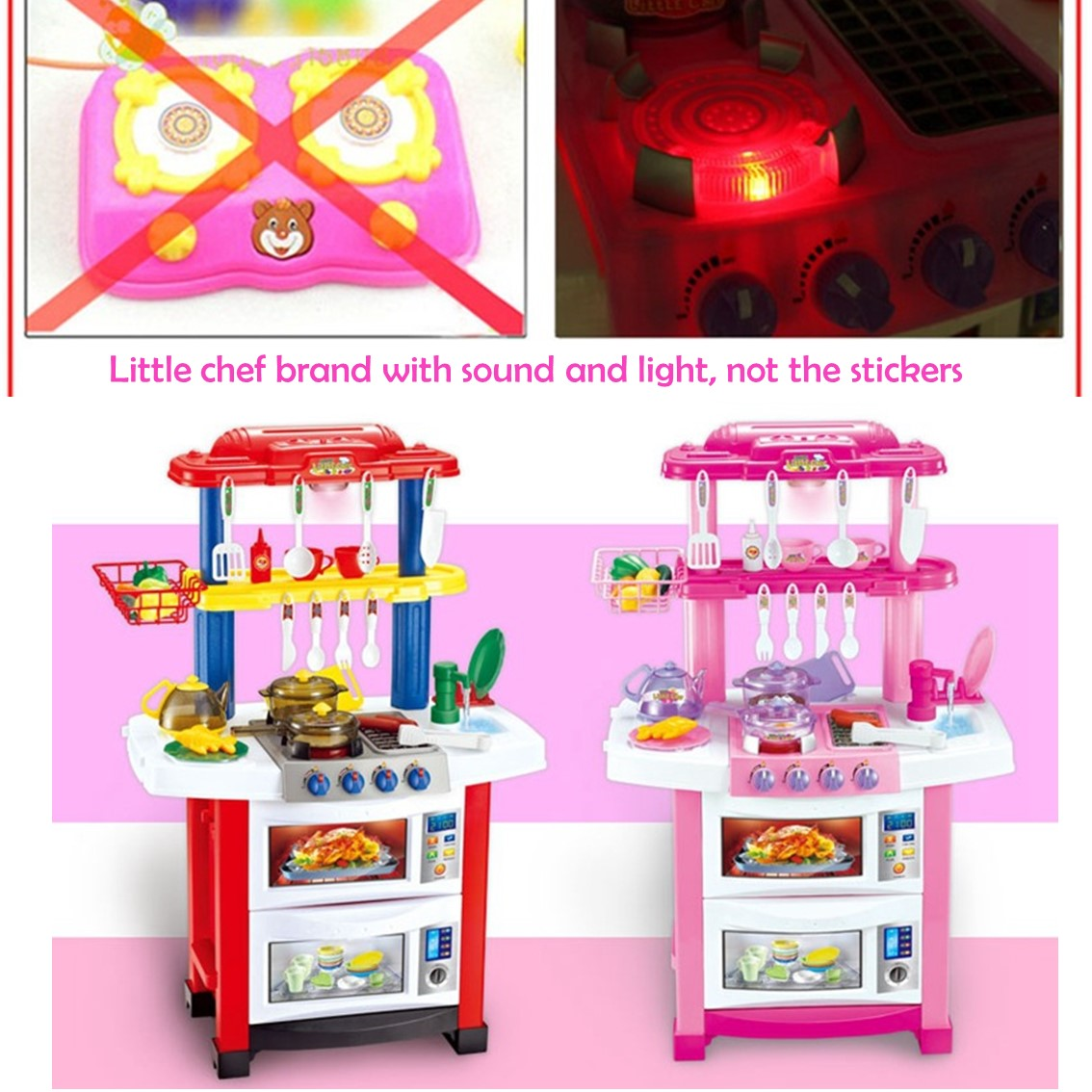 Kitchen Set With Light And Sound: Buy Kids Role Playing Kitchen Set With Sounds And Light