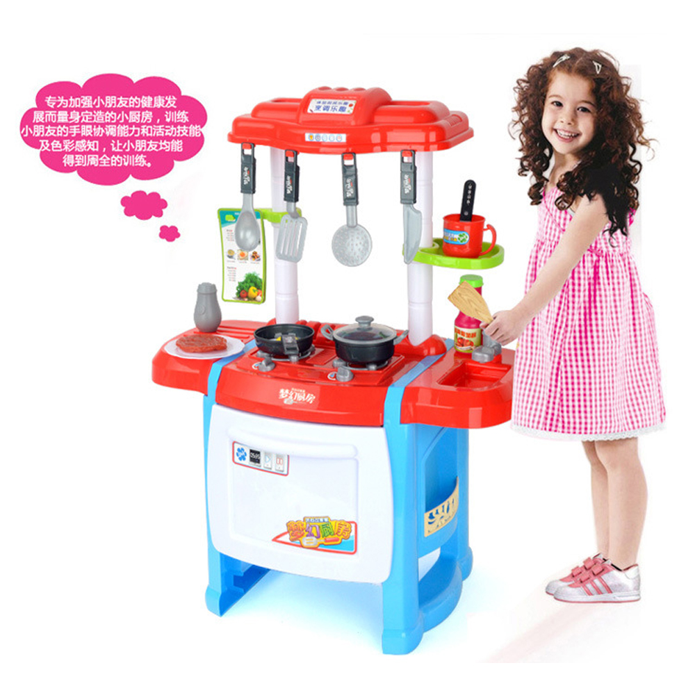 Buy kids role playing kitchen set with sounds and light for Kitchen set 008 58