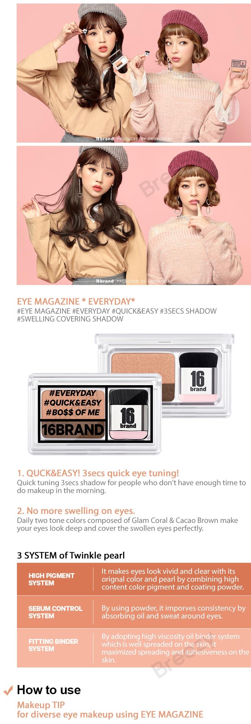 Buy Breezy Apply 10shop Coupon 16 Brand Eye Magazine Shadow Sixteen Highlights