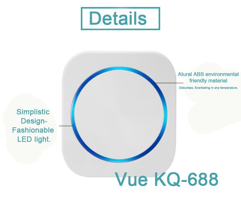 Vue,Batteryless,Door,Bell,KQ688  Vue Wiring Diagram Door Chime on