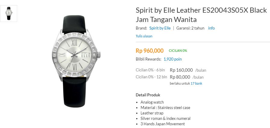 Buy FREE ONGKIR! ELLE SPIRIT 100% ORIGINAL! Jam Tangan Wanita Jam ... 5eb842b239