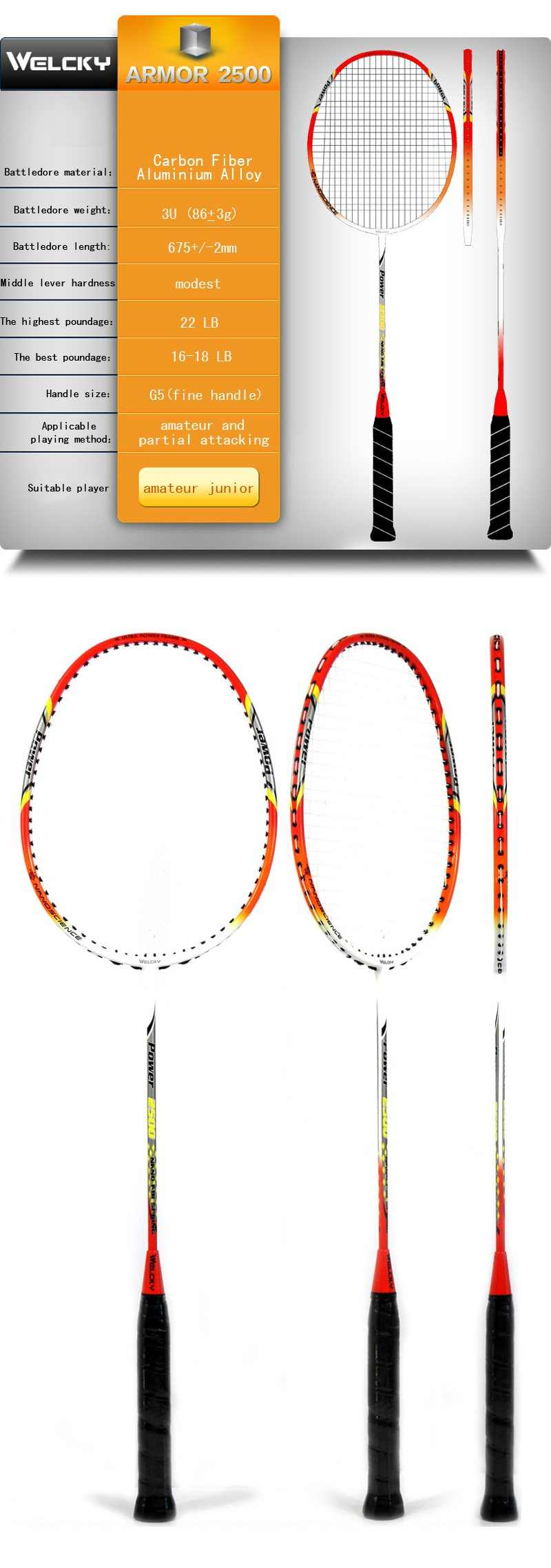 Buy WELCKY Authentic Carbon Fiber 2pcs Badminton Rackets  : 8836ebe4 8e96 4556 8f6b 5a876cb65f62 from www.bydeals.net size 800 x 2278 jpeg 174kB
