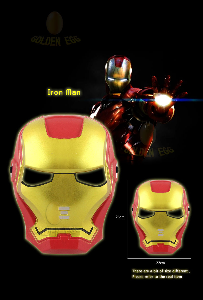 Every Need Want Day Avengers Mask Batman Role Playing Set 5 Pcs In 1 Includes Captain Americaspider Manhulkbatmanironman Each Character Pc Total