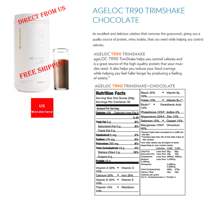 Protein Shaker Target Australia: Buy [Nuskin Nu Skin] AGELOC TR90 WEIGHT MANAGEMENT With