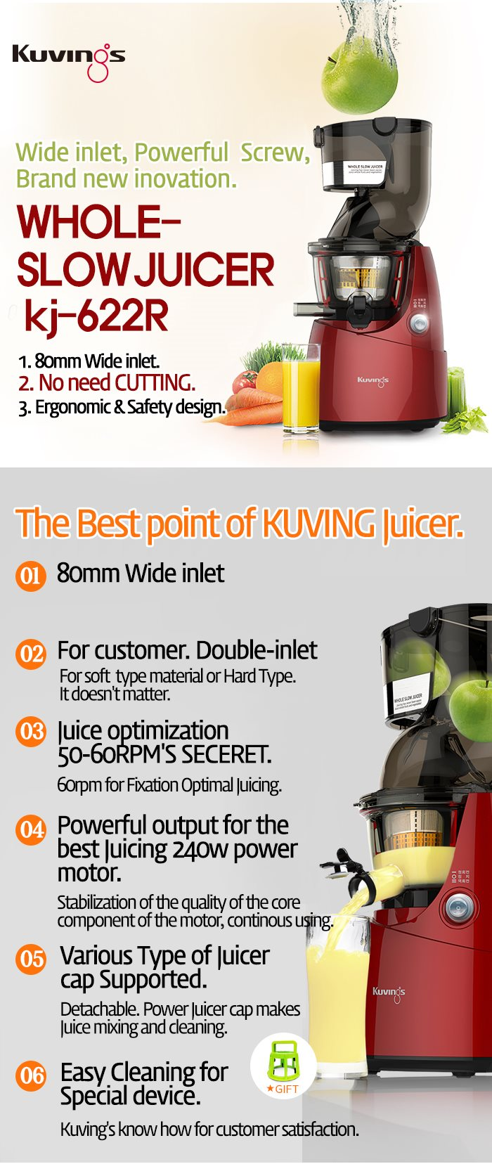 Buy 2014 KJ-622R million seller Slow Juicer Deals for only S$337.9 instead of S$490