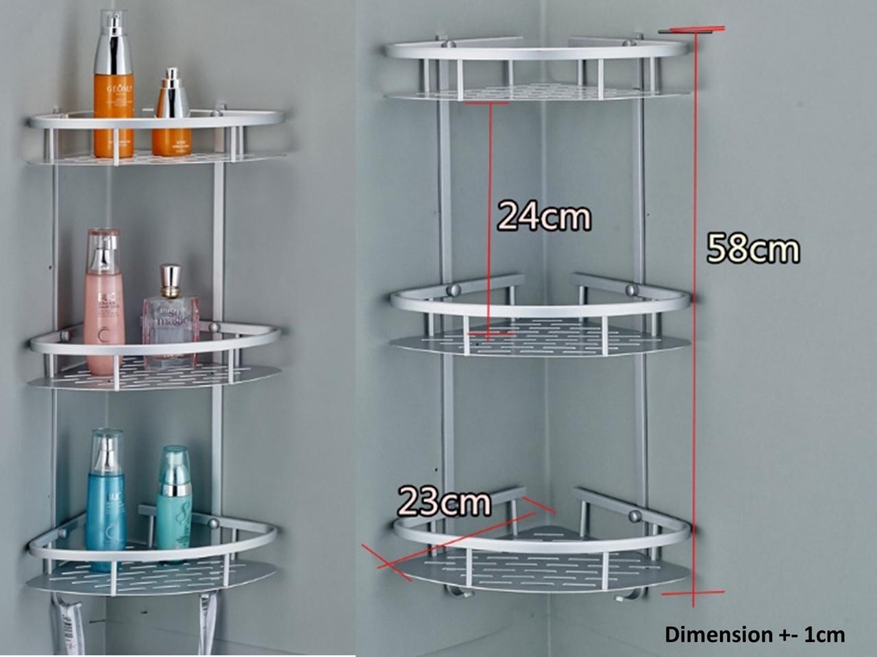 Buy 3 tier/2 tier Aluminium Shelf/ Corner shelf /Kitchen or toilet ...