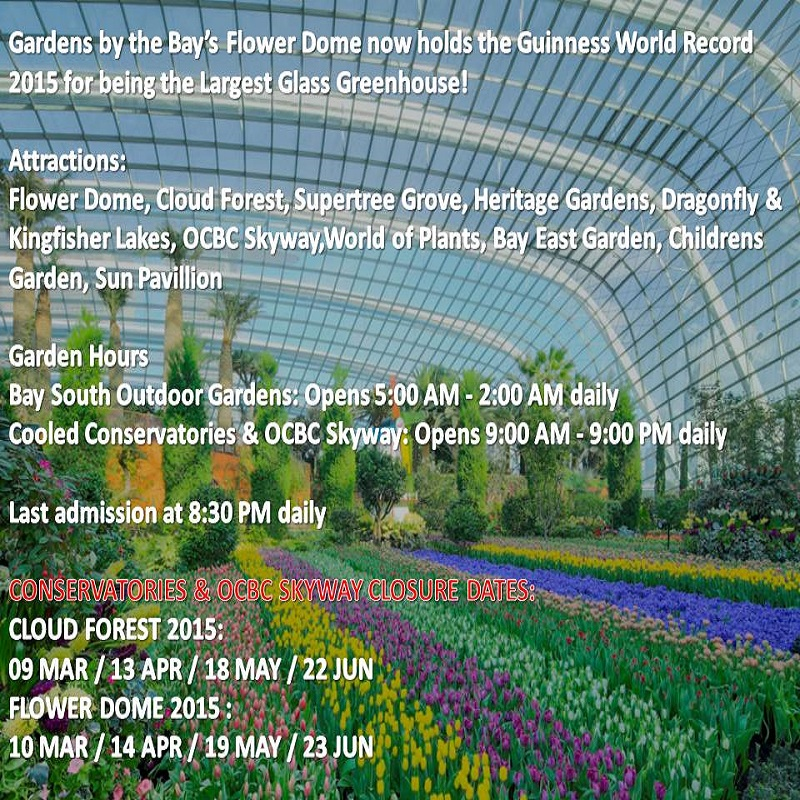 Garden By The Bay Admission buy admission e-ticket to gardensthe bay deals for only s$37