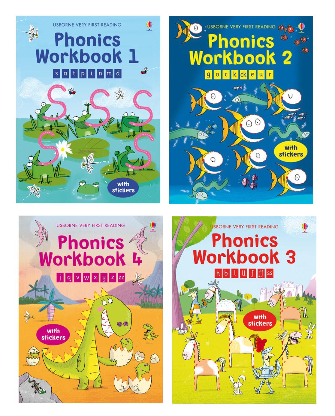 Every Need Want Day Kumon Creative Doodling Workbooks 2 Books Phonics Workbook