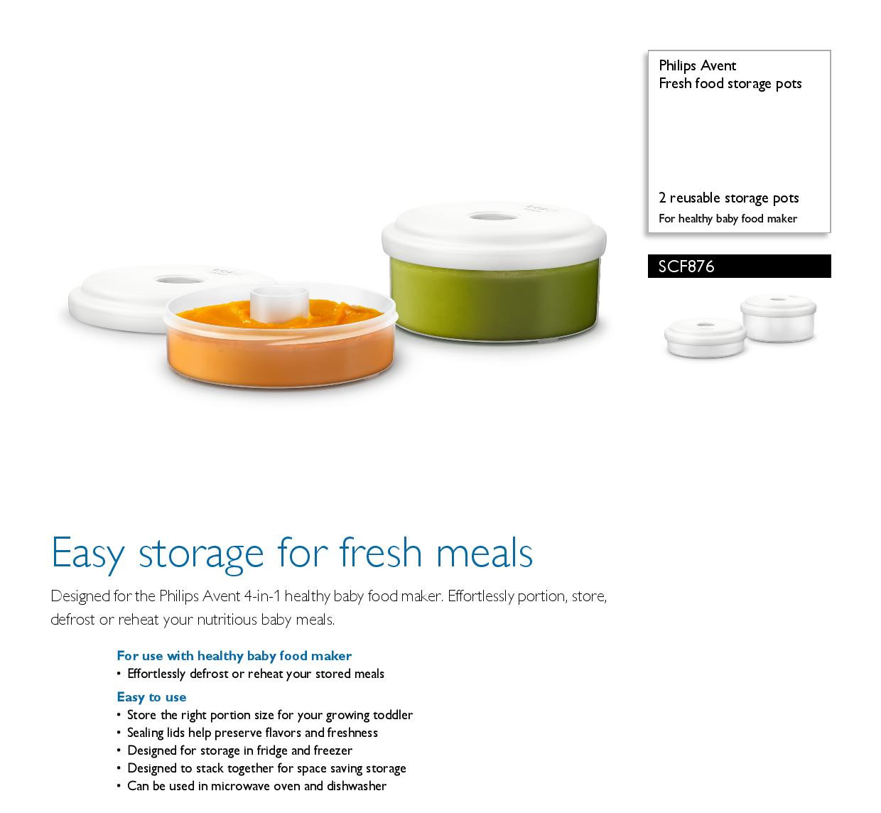fresh food storage pots scf87602 avent. Qoo10sg Every Need Every Want Every Day  sc 1 st  omniboo.com & Avent Baby Food Storage Pots Philips Avent Fresh Food Storage Baby ...