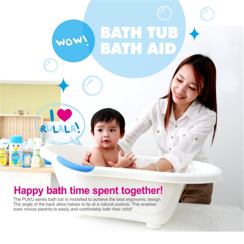 PUKU Giraffe Bath Tub(Red/Green) | Baby Gallery