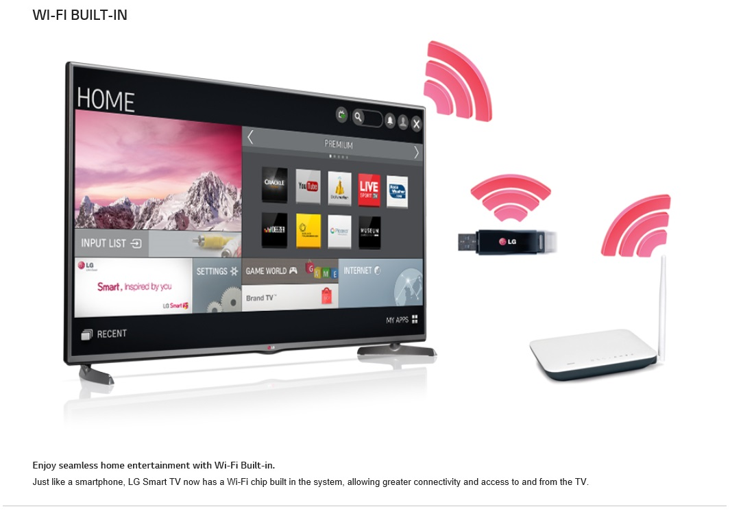 buy lg 42lb582t 42 inch full hd led smart tv lg apps support to streaming the videos music and. Black Bedroom Furniture Sets. Home Design Ideas