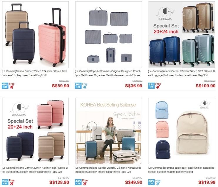 Buy Le Comma Korea Best Selling Suitcase Luggage Trolley Case Travel Bag Gift Tsa Lock Deals