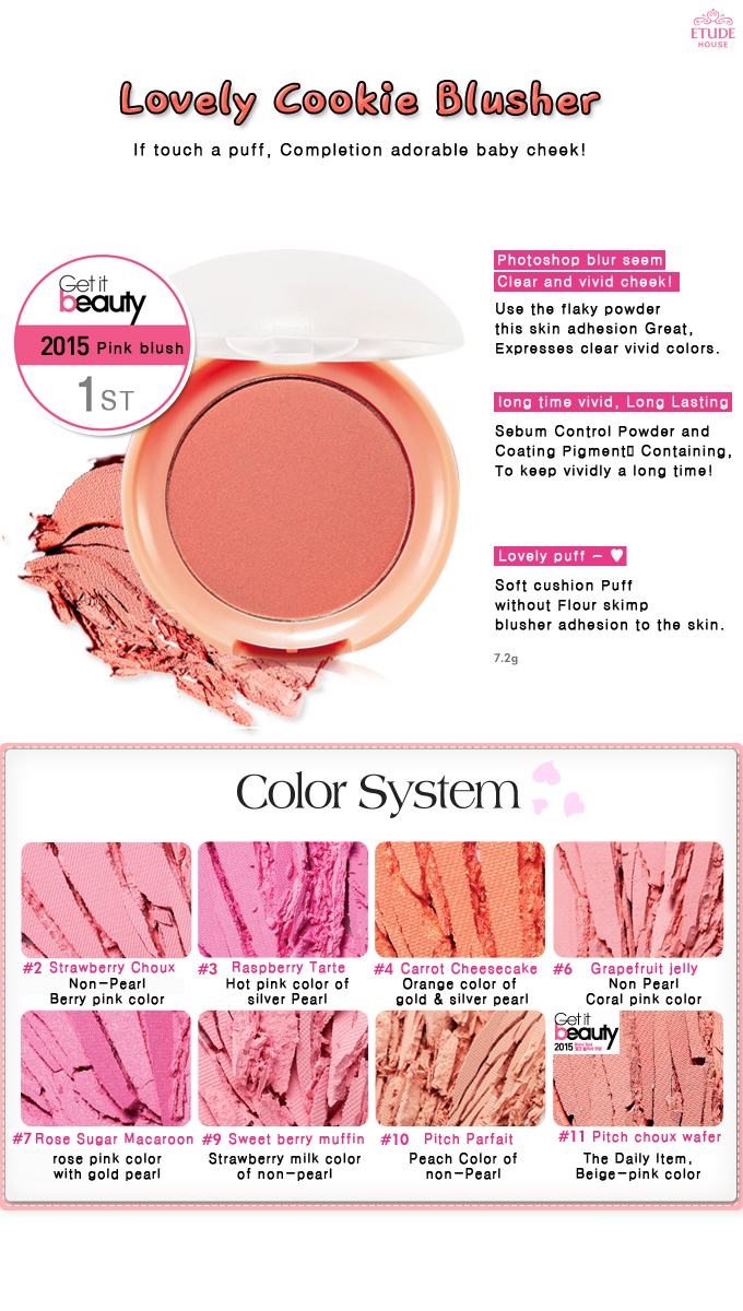 Buy Etude House Lovely Cookie Blusher 8color Deals For Only Rp59 Highlights