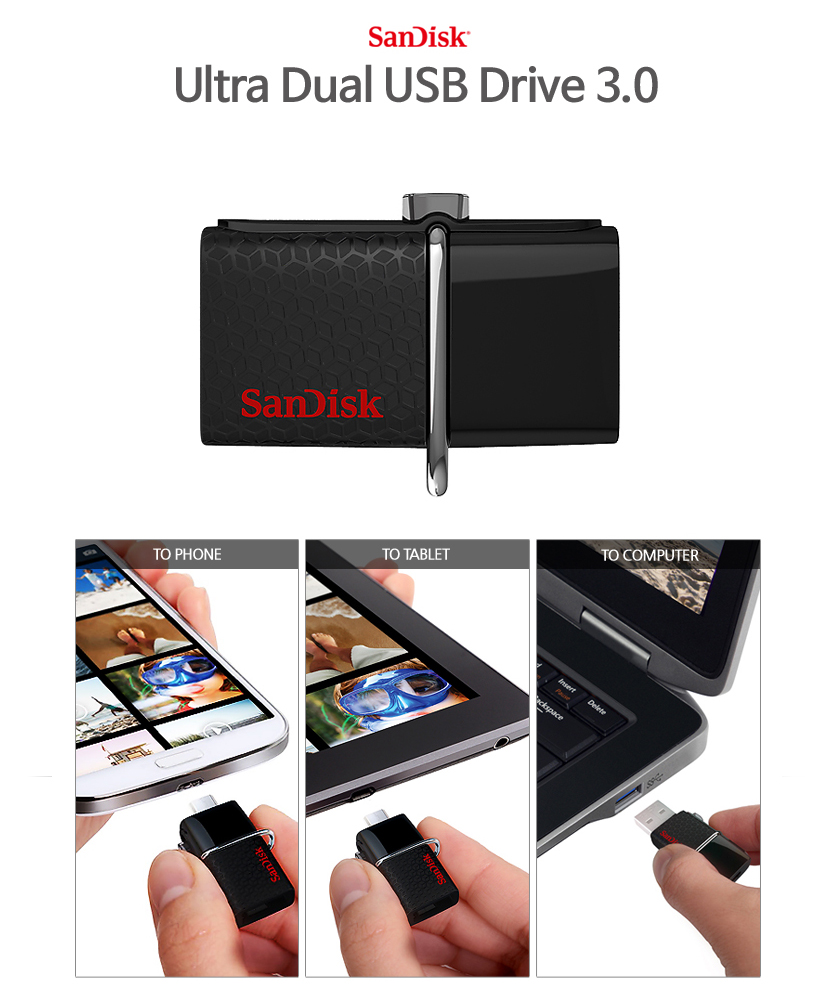 Every Need Want Day Sandisk Ultra Usb 30 16gb Dual Drive Otg