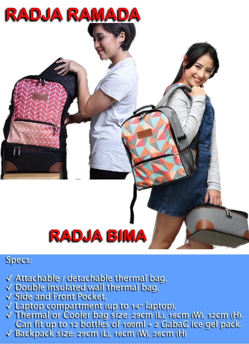 Gabag Cooler Bag Backpack Series Radja Ramada Free 2 Ice Gel Bags In 1 Lunch Pack