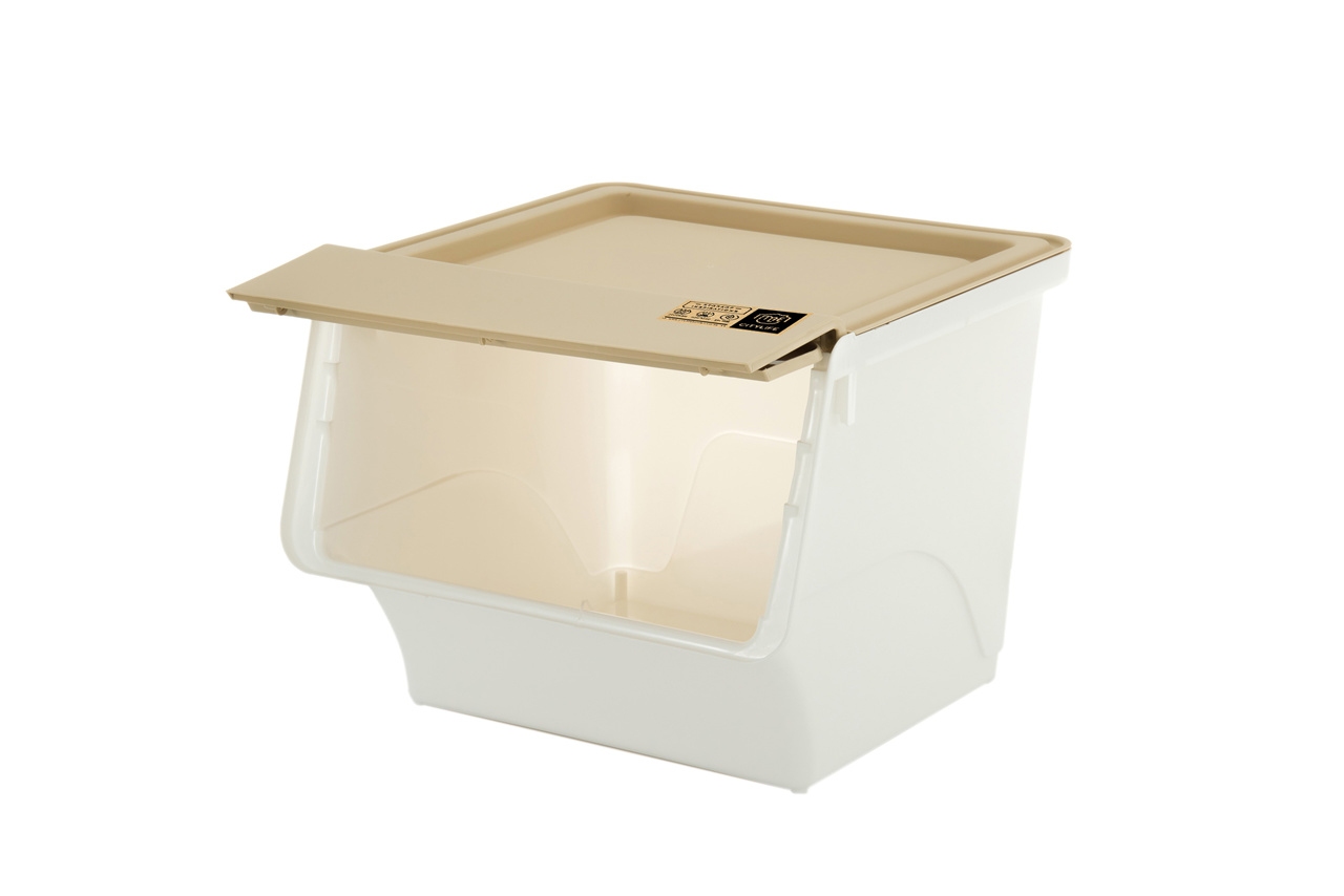 Buy 35l Stackable Storage Box With Front Opening Citylife