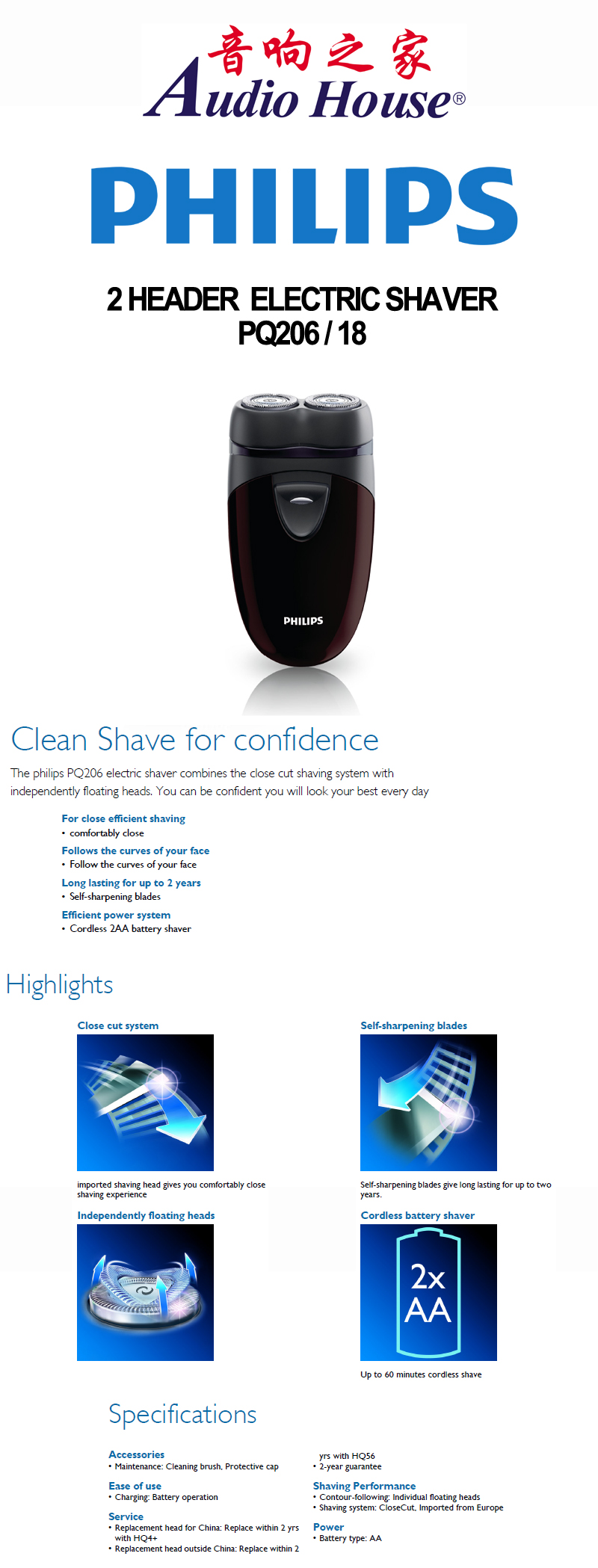 Every Need Want Day Philips Shaver Pq206 2 Header Electric
