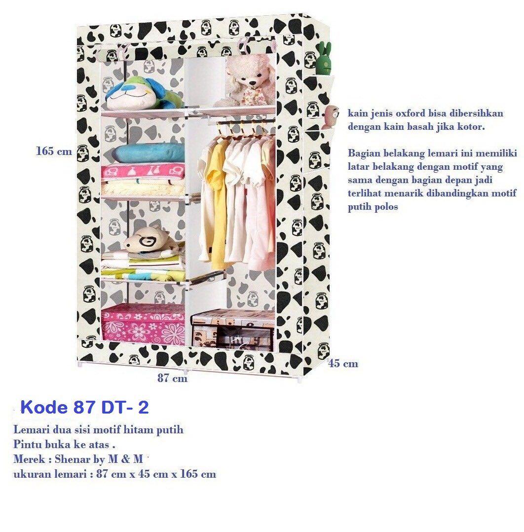 Buy Lemari Pakaian Kain Oxford 87 Deals For Only Rp226150 Instead Medium Motif Highlights