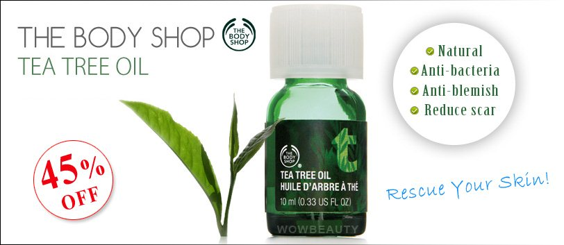 [Lowest Price]The body Shop Bestselling Tea Tree Oil(10ml ...