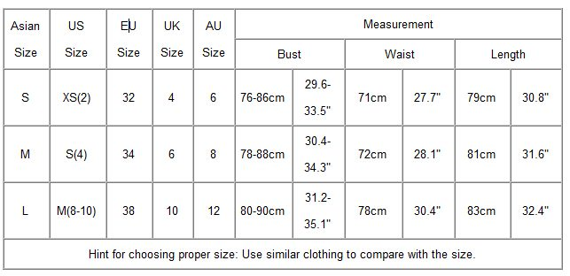 Women's size chart Exact sizes in this size chart are provided by eBay and may vary by brand. Please refer to information in the listing or ask the seller for more details.