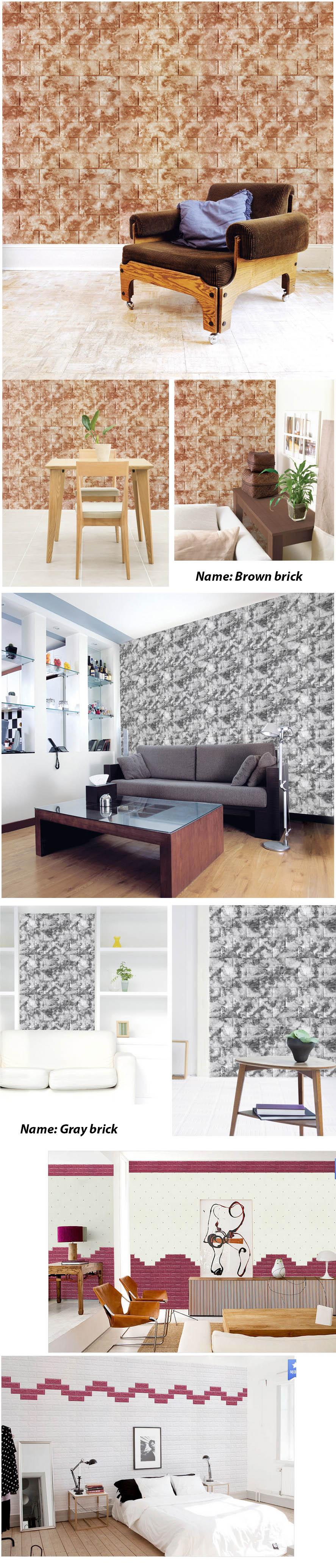 Buy hot itemdiy interior self adhesive 3d real foam for Wallpaper home bargains