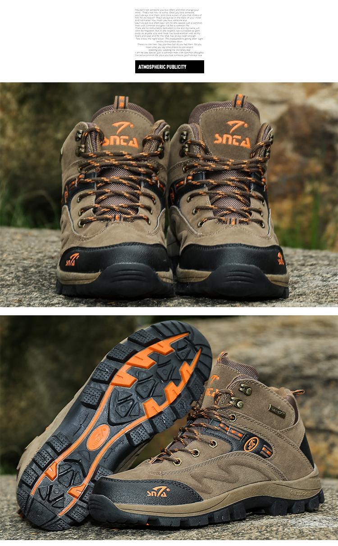 Sepatu Gunung Hiking Adventure Snta 471 Okebuy Series Trekking Outdoor 5brown Orange