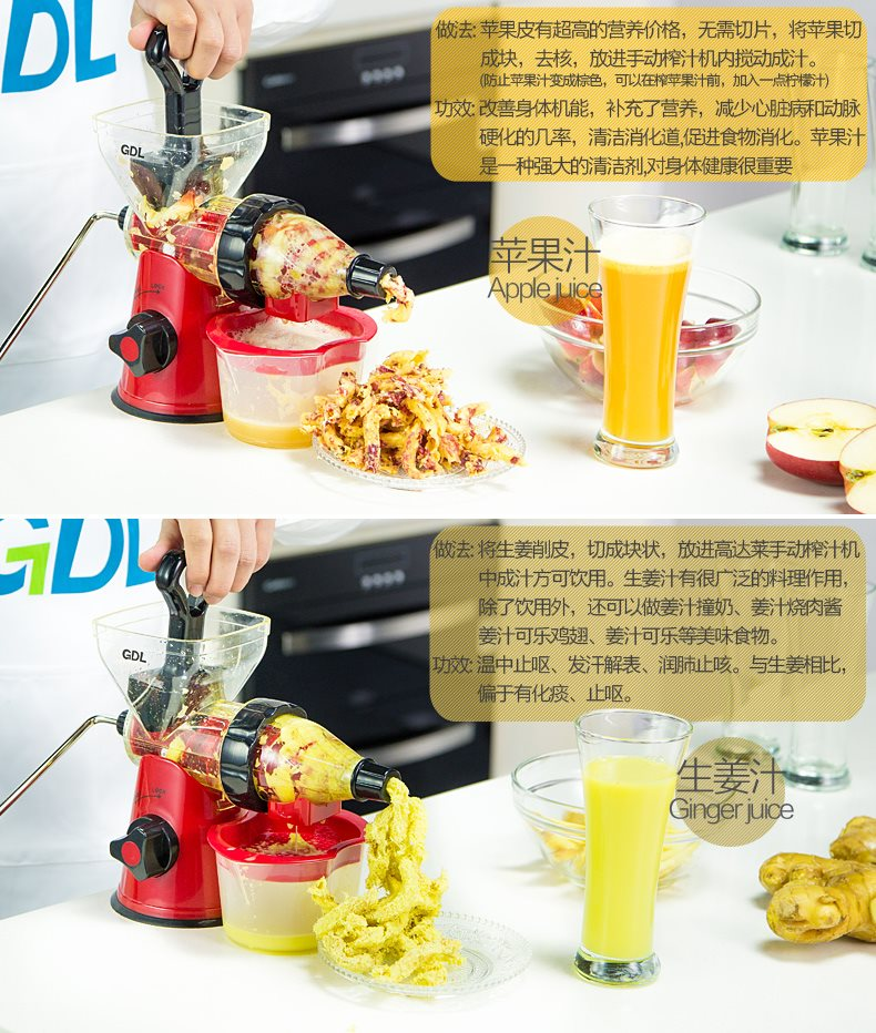 Buy NEW GDL Manual Slow Fruit Juicer Mini Baby Simple ...