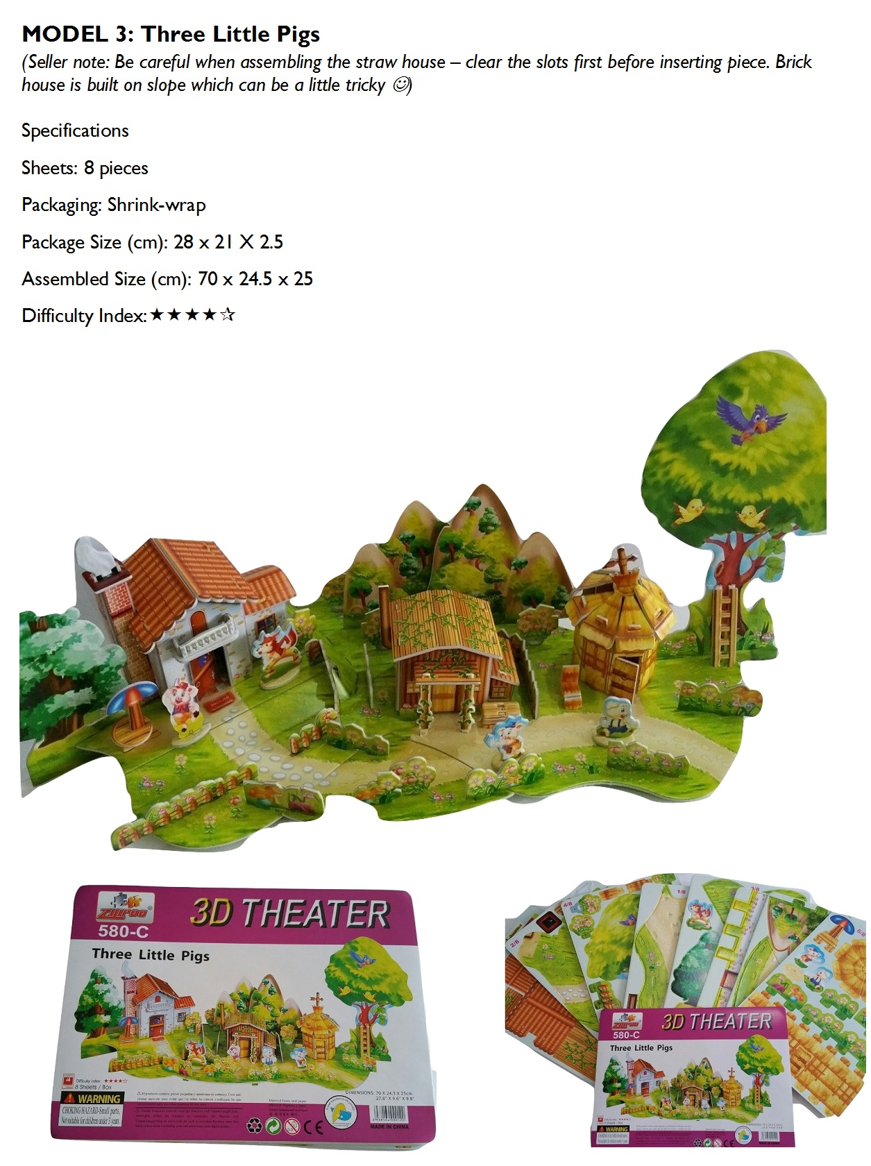 Buy Christmas Gift Storybook Based 3d Big Puzzles