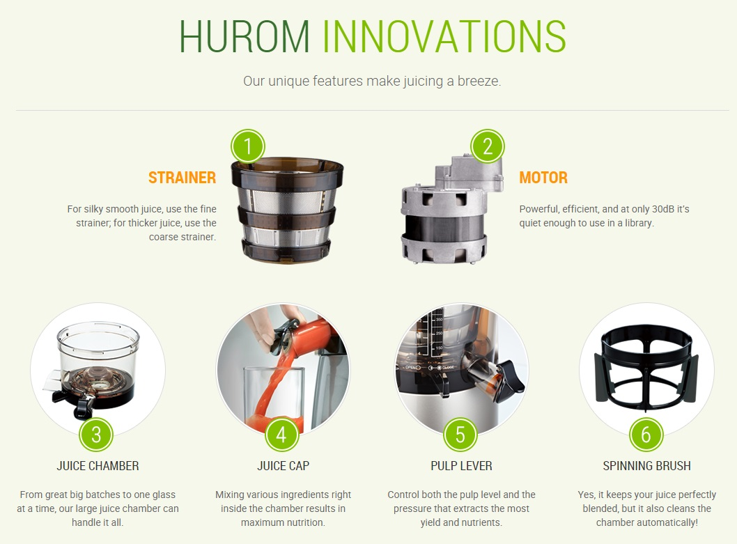 Hurom HU-500DG HH-SBF11 New Slow Citrus Juicer Extractor Machine Juice Fruit vegetable 2nd ...