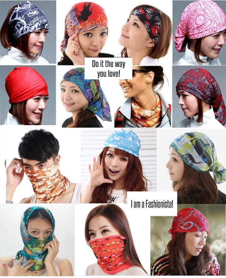 Buy Bandana Buff Scarf Multi Functional Head Band Hair Tie Face Mask