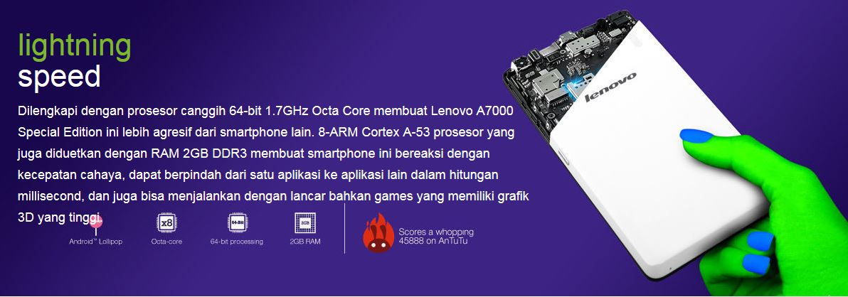 Lenovo A7000 Special Edition Garansi Resmi