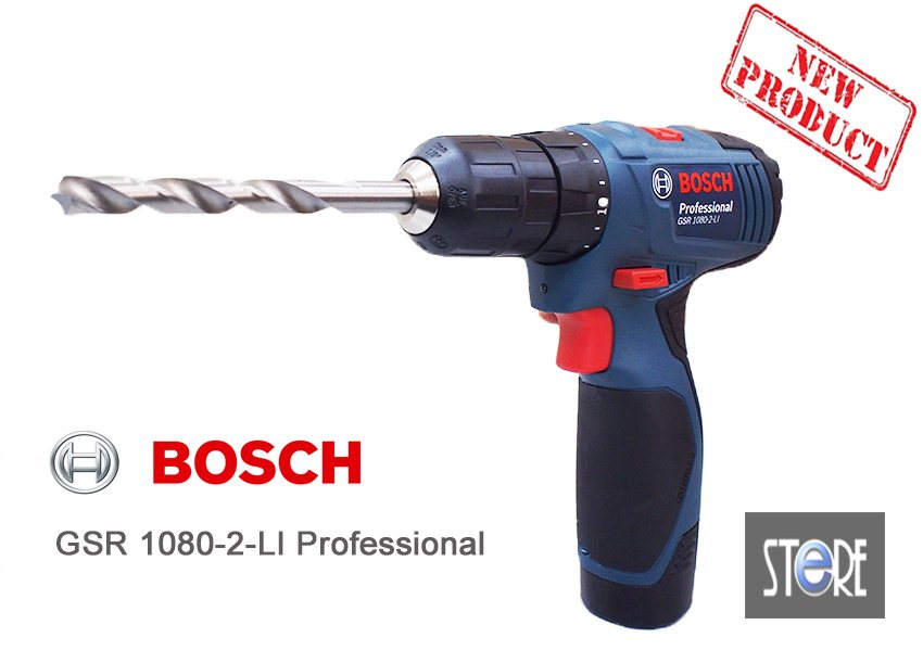 bosch gsr 1080 2 li professional cordless drill driver. Black Bedroom Furniture Sets. Home Design Ideas