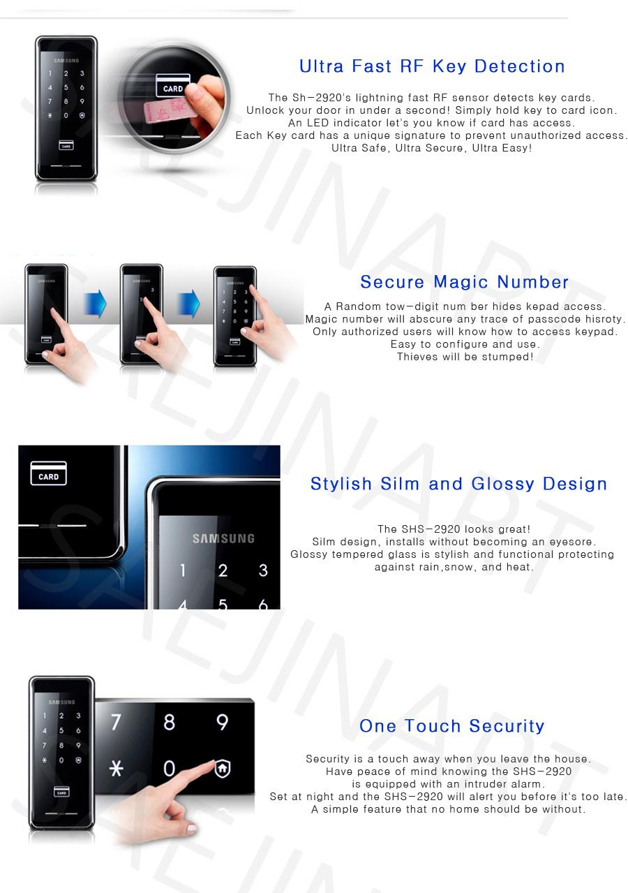 Buy Samsung Smart Door Lock Shs 2920 Silm Body Glossy