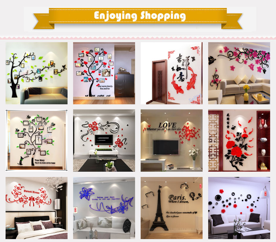 Qoo10 every need every want every day acrylic material diy wall sticker wedding decorations wall decals trees photo frame home decoration for kids roombedroomliving room singapore shipping junglespirit Images