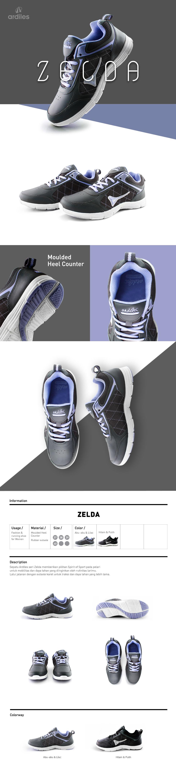 Buy Free Ongkir Ardiles Shoes Men And Women Sepatu Special Articuno Running Grey Black 42 Opsi