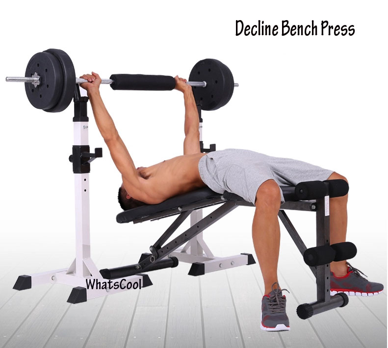 The Difference Between A Chest Press Machine A Bench: Buy Sit Up Incline Decline Work Bench Situp Dumbbell Bar