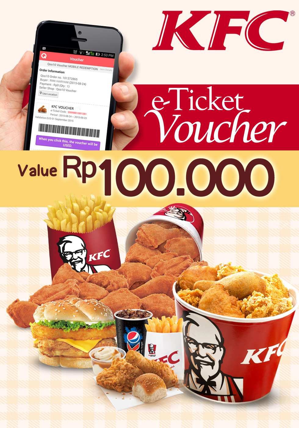 Kfc coupons available with delivery