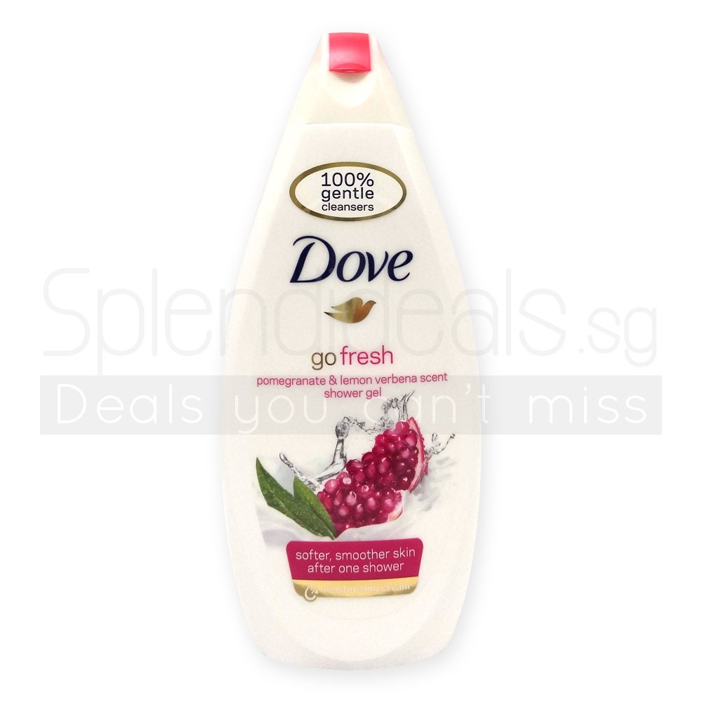 Every Need Want Day Twin Pack Dove Go Fresh Revive Body Wash Pump 550ml Shower Cream Pomegranate Lemon Verbana Scent 500ml