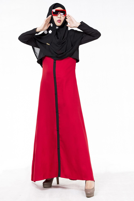 Buy Hari Raya Dress Badawi Muslim Womans Jubah Hijab Anneyep Printed Flowers Kaftan Maxi Tudung Baju Muslimah2 Deals For Only S55 Instead Of S0