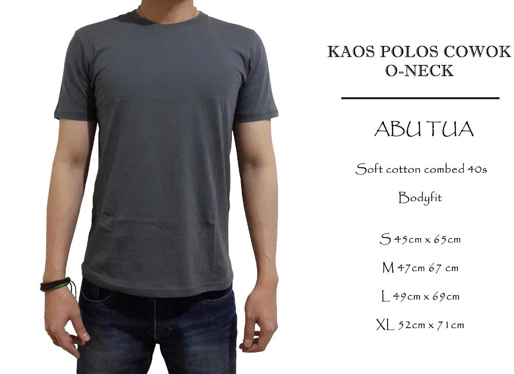 kaos polos bodyfit SPOOF | PREMIUM QUALITY | lengan panjang cowok - crew neck