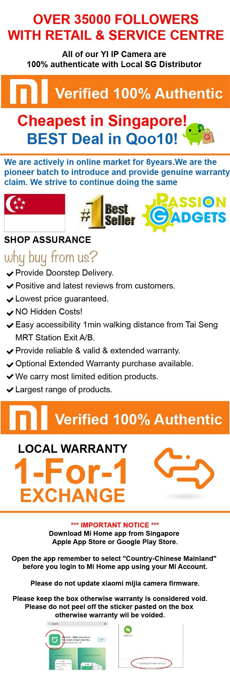 Buy XIAOMi Mijia XiaoFang DaFang Smart IP Camera Baby Monitor CCTV / Night  Vision 1080P Deals for only S$17 87 instead of S$0